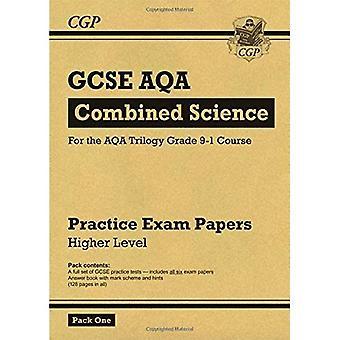 Nuevo grado 9-1 GCSE combinado ciencia AQA práctica papeles: mayor Pack 1