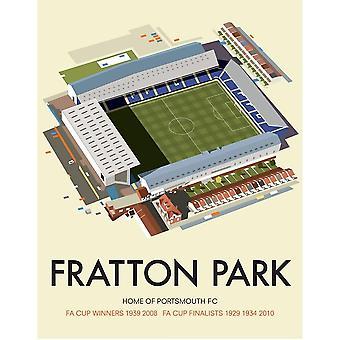 Fratton Park Portsmouth FC Mouse Mat 230mm x 195mm (se)