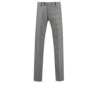 Dobell Mens bianco e nero tuta pantalone Slim Fit Check Principe di Galles