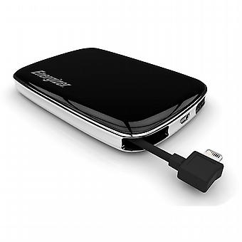 External battery 3000 mAh with integrated Cable Lightning and Energizer USB port