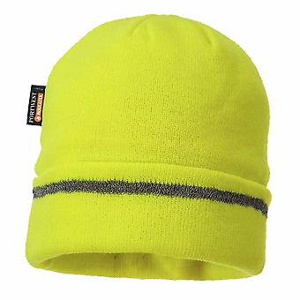 sUw - Reflective Trim Knit Hat Insulatex Lined Yellow Regular