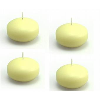 Round Ivory Floating Candles 38mm 4/Pack - Ivory