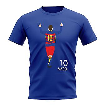 Lionel Messi Barcelona Player Graphic T-Shirt (Blue)