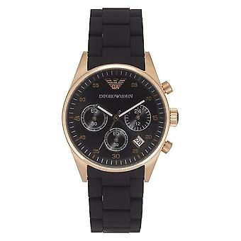 Armani Watches Black And Gold Womens Chronograph Watch Ar5906
