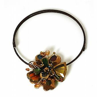 Large Multi Coloured Flower Burst Choker By Peace of Mind