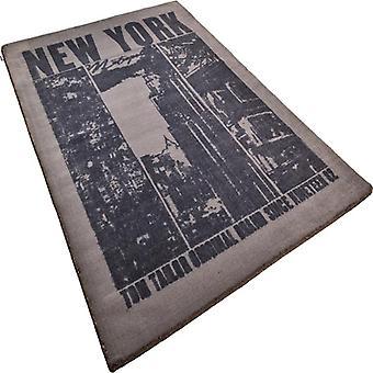 Alfombras - feliz Nueva York - negro