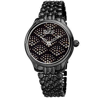 Burgi Women's BUR205 Swarovski Crystal Diamond Sparkle Bracelet Watch BUR205BK