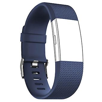 FitBit Strap Charge 2 Sport Silicone Clasp Blue Buckle