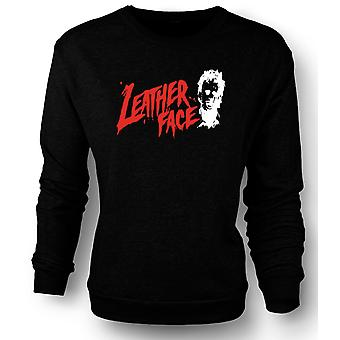 Kids Sweatshirt Leather Face - Texas Chainsaw - Horror