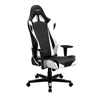DX Racer DXRacer OH/RE0/NW High-Back Racing Office Chair Video Rocker Gaming chair PU(Black/White)