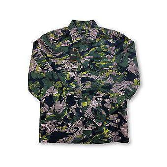 HUGO BOSS Orange Cienfuegos shirt in green leaf design