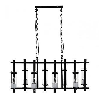 Premier Home Aspen Pendant Light, Glass, Iron, Black