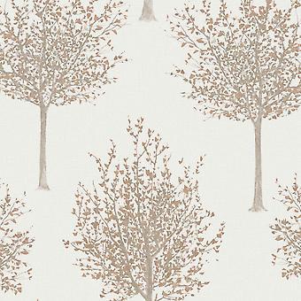 Grandeco Nordic Forest Baum Muster Tapete strukturiertglitter Leaf Motiv NG2101