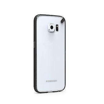 PureGear Snap-on Slim Shell Silicone Case for Samsung Galaxy S6 - Clear/Black