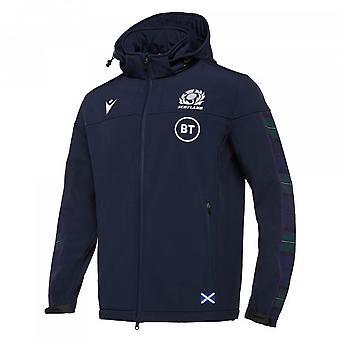 2019-2020 Ecosse Macron Rugby Softshell Jacket (Navy)