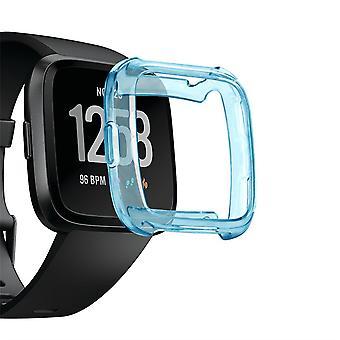 Anti-scratch front case tpu cover screen protector for fitbit versa