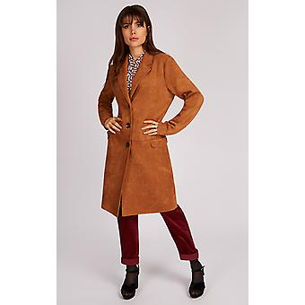 Louche Alzbeta Suedette Coat Brown