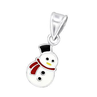 Snowman - 925 Sterling Silver Pendants - W10687X