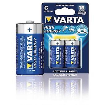 Varta Alkaline batteries C LR14 1.5 V High Energy blister 2 Units