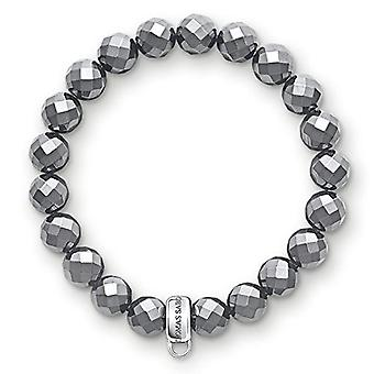 Thomas Sabo FASHIONNECKLACEBRACELETANKLET - Wrist Jewel - with Hematite - Silver - 18.5 Centimeters Null Null Null Null