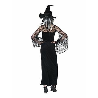 Witch Dress Lace Sorceress Ladies Costume Halloween Witches Magic Potion Healer Ladies Costume