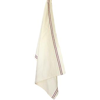 Cream With Red Stripe Vintage Towel 20