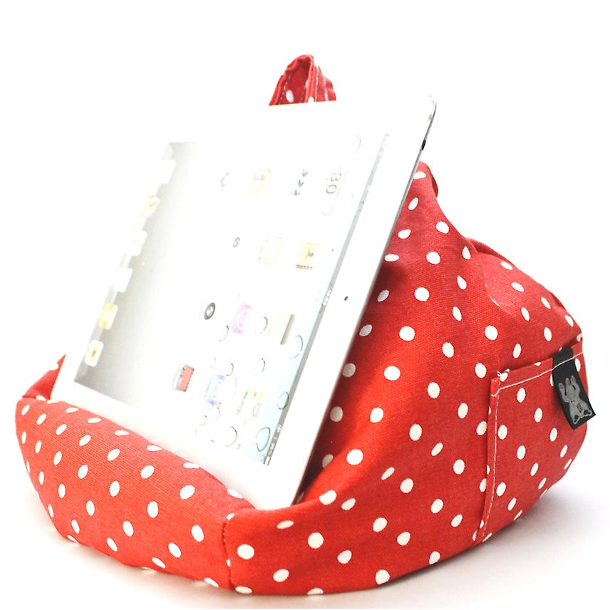 iBeani iPad, Tablet & eReader Bean Bag Stand / Cushion - Polka Dot