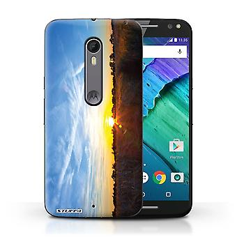 STUFF4 Case/Cover for Motorola Moto X Style/Blue Sky/Sunset Scenery