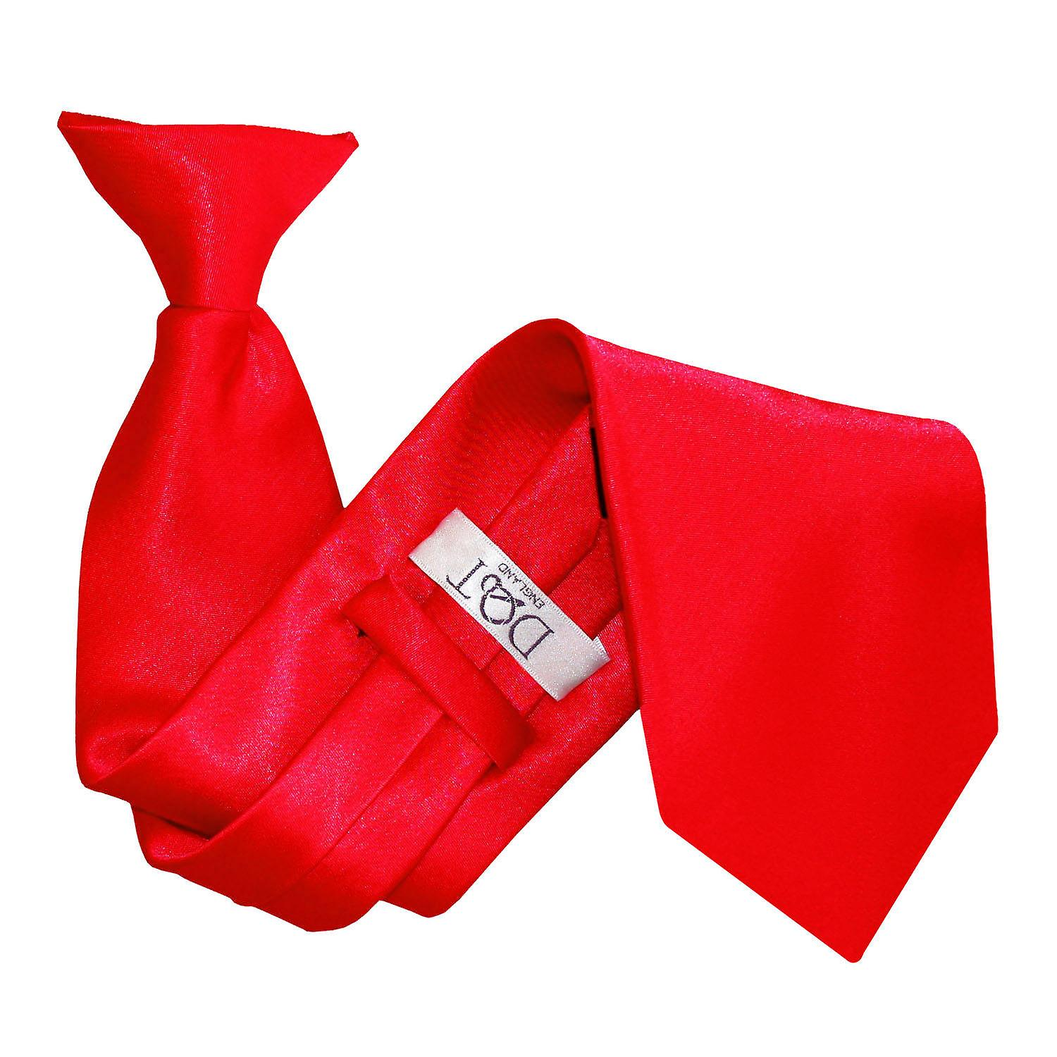 Plain Red Satin Clip On Tie