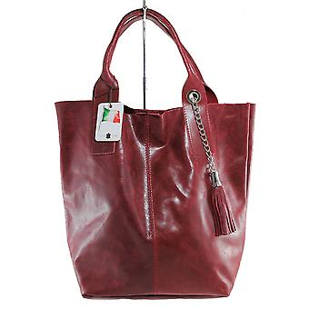 CTM stylish in leather large bag made in italy