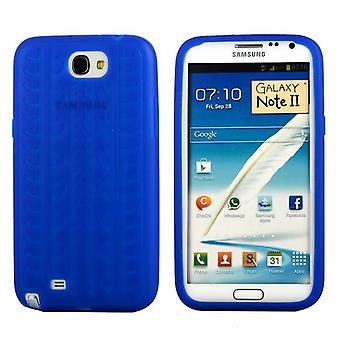 Cover with standard tire in silicone, for Samsung Galaxy Note 2 (blue)