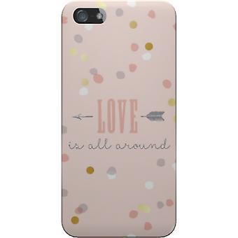 Cubierta mate amor es todo para el iPhone 5S/SE