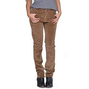 Slim Stretch Cords Trousers - Light Brown