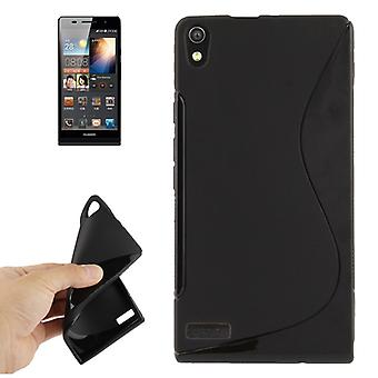 Mobile case TPU case for Huawei Ascend P6 black