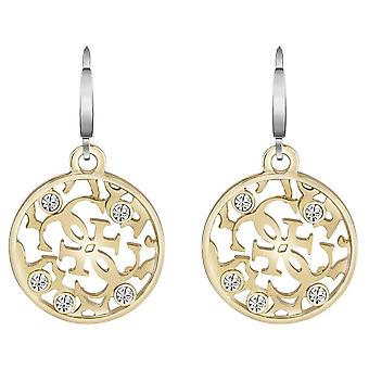 Guess ladies hoops earrings stainless steel gold UBE71512