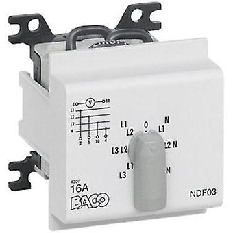 Voltmeter changeover switch 16 A 360 ° Grey BACO NDF03 1 pc(s)