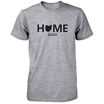 Home OH State Grey Men's T-Shirt US Ohio Hometown Cotton Shirt