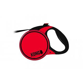 Kong Retractable Terrain Lead Red Medium 30kg-5m
