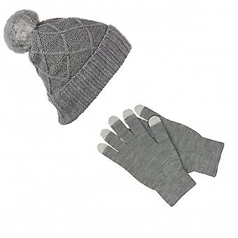 KITSOUND Headphone Beanie Kit incl Mitt Gray