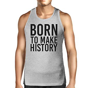 Born To Make history Mens Grey Tank Top Yuri On Ice Anime Inspired