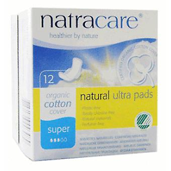 Natracare Orgaic Cotton Cover Ultra Pads Super 12 Units