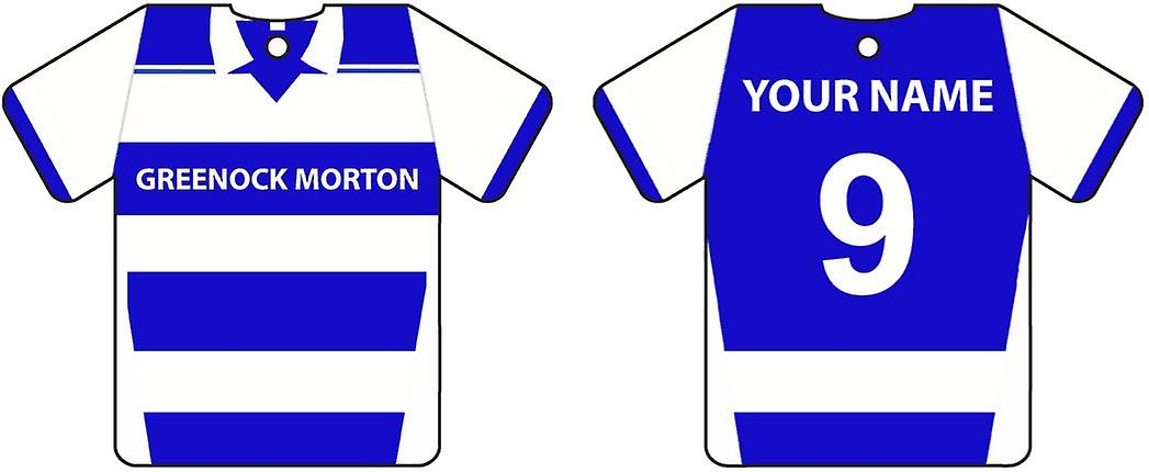 Personalised Greenock Morton Football Shirt Car Air Freshener