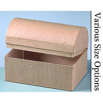 Choice of 6cm to 28cm Wide Paper Mache Treasure Chest Boxes