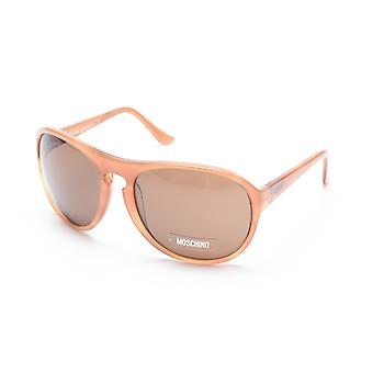 Moschino vrouwen Oversized ronde Frame zonnebril bruin