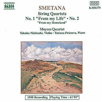 B. スメタナ - スメタナ: 弦楽四重奏曲第 1 番, 第 & 2;私の故郷 [CD] アメリカからのインポートします。