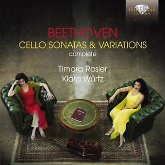 Timora Rosler & Klara Wurtz - Beethoven: Cello Sonatas & Variations [CD] USA import