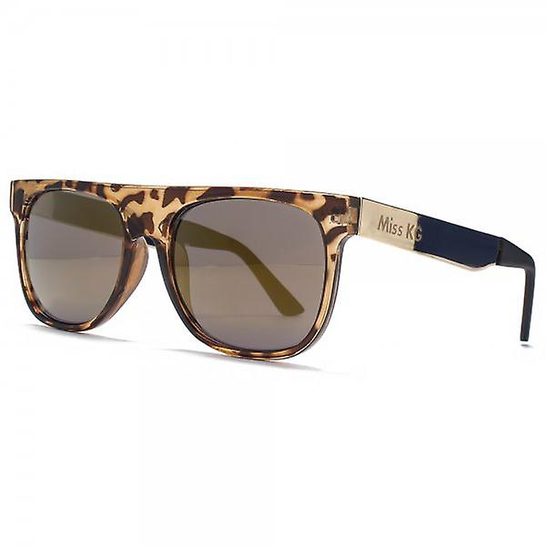 Miss KG Flat Top Sunglasses With Metal Temples In Tortoiseshell