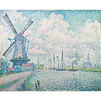 Paul Signac - Canal of Overschie Poster Print Giclee