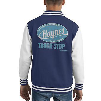 Carro de marca Haynes parar Varsity Jacket cabrito