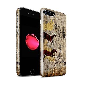 STUFF4 glans terug Snap-On telefoon Hardcase voor de Apple iPhone 7 Plus / dieren/bruin Design / Cave Painting collectie